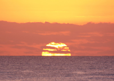 Sunrise 4:46AM at Broadbeach Queensland prior to partial solar eclipse - 14/11/2012 (Processed image)