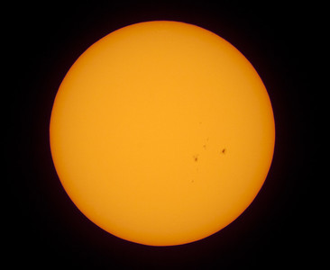 Sun with sunspots 21/01/2012