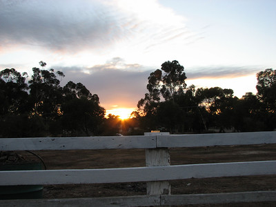 First rays of sunrise at Bedford Arms Hotel, Brookton for Venus transit 2012 - 7:24 6/6/2012