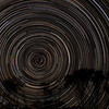 South Polar Star Trails - 30/11/2013 (Re-processed stack)
