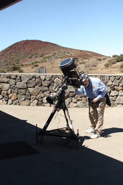 The big Meade in action, solar observing.