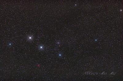 NGC2174, M35, M37