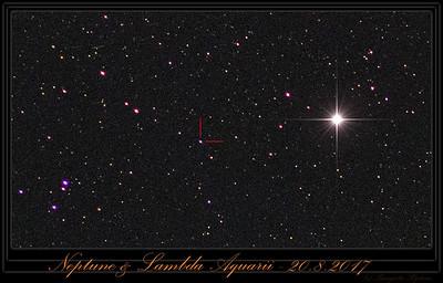 Neptune near Lambda Aqr