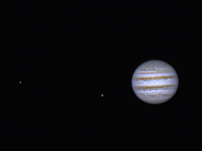 Europa, Ganymede and Jupiter