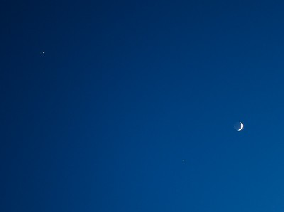 Jupiter Venus Mond 2012