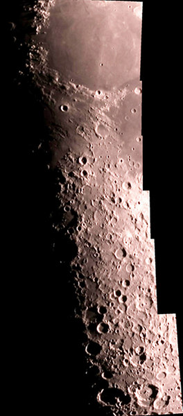 Moon mosaic taken from my home in Washington Pa on 3/25/07. Ten photos were used to make this mosaic.  I used a ext 125 and a sac 7 ccd. I shot 10 avi's of 10 each at 1/50 of a sec 30fps.