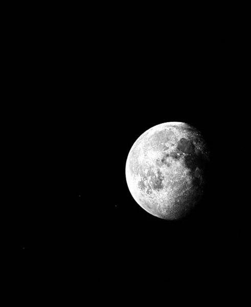 Moon and Pleiades