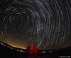 Startrails Friday night. No meteors in this one.