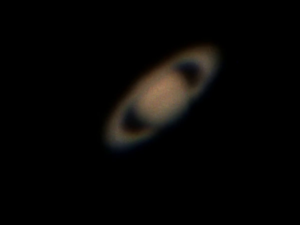 Saturn viewed with the Class of PHYS397, Sep. 5, 2014.