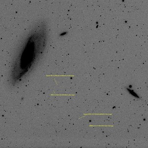 Quasars next to M106