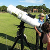 28th November 2009 saw the International Year of Astronomy (IYA) celebrated with public afternoon information display and presentations and an evening telescope observing session at Curtin Uninversity. This shot of one of the voluntary telescope participants.