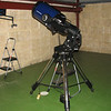 "Gingin observatory visit by the Perth Observatory volunteer group 19th June 2009.<br /> 12"" Meade LX200 with Equatorial Wedge"