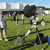 28th November 2009 saw the International Year of Astronomy (IYA) celebrated with public afternoon information display and presentations and an evening telescope observing session at Curtin Uninversity. This shot of one of the voluntary telescope participants setting up for the evening.