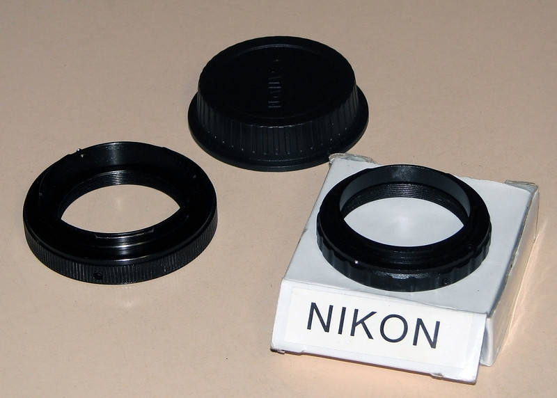 Canon EOS and Nkion T-Rings and EOS Rear Lens cover