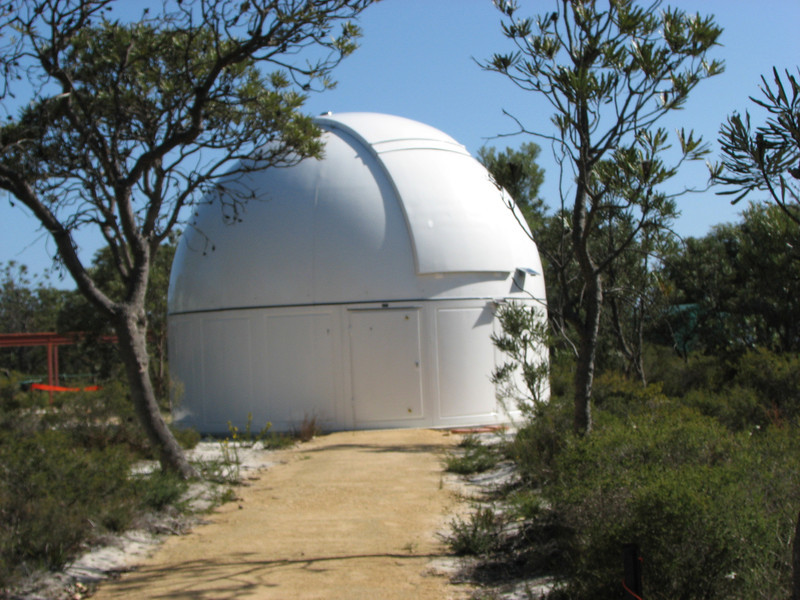 Dome for  1m Zadko Telescope at Gingin - 4/10/2006<br />  <br /> The 6-metre Sirius dome housing the 1-metre Zadko telescope, near Southern Cross Cosmos Centre (now Gingin Observatory).