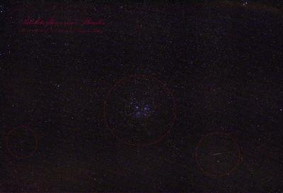 Satellite Flares near Pleiades