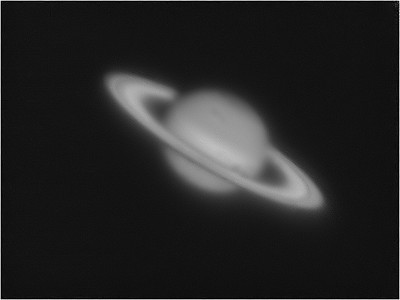 Saturn, captured mono DMK21 mono firewire camera w/IR pass filter. Seeing 3/10. Saturn 35 degrees alt. High light pollution.  Stacked 1500 frames. Processed wavelets in Registax6, levels&Curves&mild sharpening w/PS CS5.5. 21/06/2012