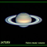 SATURN<br /> <br /> Optics    : Celestron C11 Edge HD f/20<br /> Camera : Point Grey Flea3 Mono 640x480<br /> Date      : 03/06/2013<br /> Location : Buyukdere-Istanbul