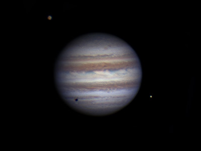 Jupter with Io and Callisto