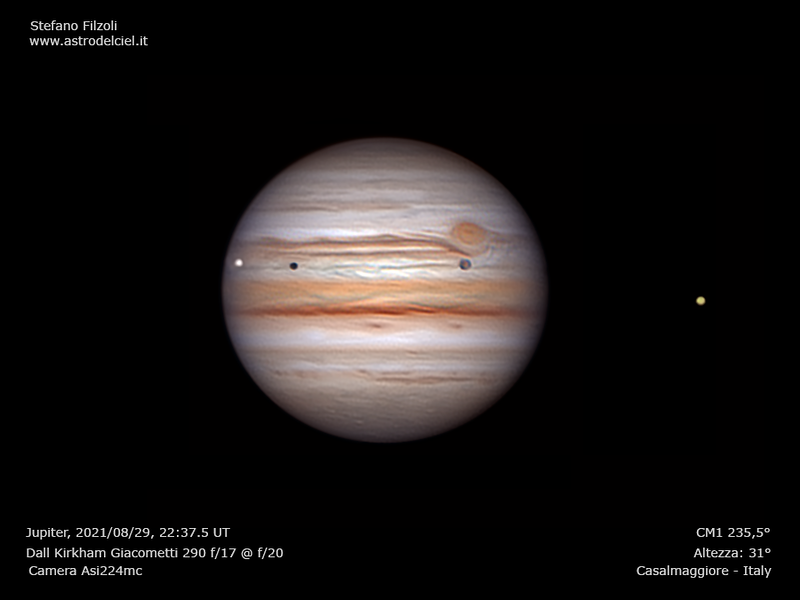 Jupiter, Europa, Ganimede, Io