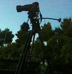 A Nikon d3100 on standby mode