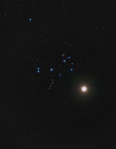 Venus meets Pleiades