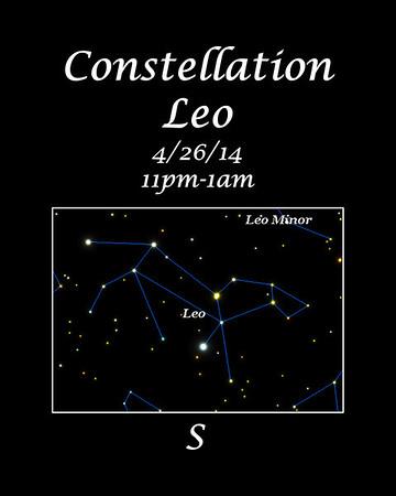 Constellation Leo image from Voyager4.5 planetarium program.