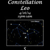 Constellation Leo image from Voyager4.5 planetarium program.