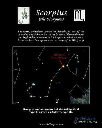 Constellation Scorpius mage from Voyager4.5 planetarium program.