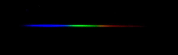 Spectra of Regulus, a type B7V star, Temperature=11,200K.