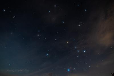 Gemini,Orion, Auriga and Pleiades