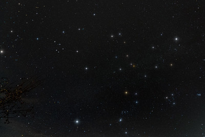 Gemini, Auriga, Orion, and Pleiades