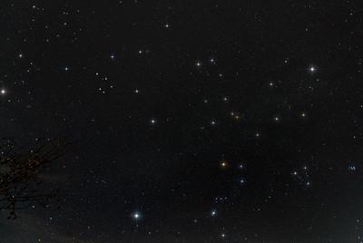 Gemini, Auriga, Orion, and Pleiades