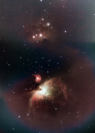 Mosaic of M42 and NGC1977 5 Panels APP (Charles Bracken Method)--Edit