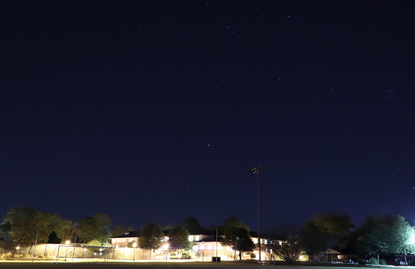 The night sky from the Oxford College soccer field, 9:30pm, 10/29/18.