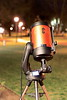 One of the Telescopes used to observe and photograph the waxing gibbous Moon from in front of the Oxford science building on the night of Feb. 26, 2018.
