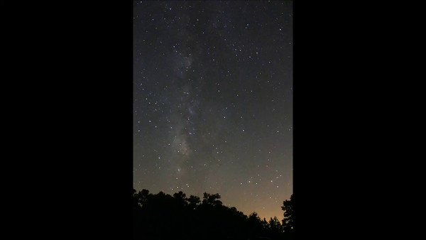 Christella's 40 minute sequence of photos of the Milky Way.