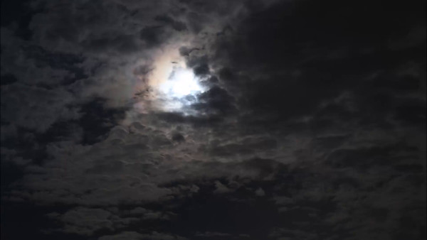 Clouds covering the Full Moon on Oct. 8, 2014. (Plays at 50x speed.)