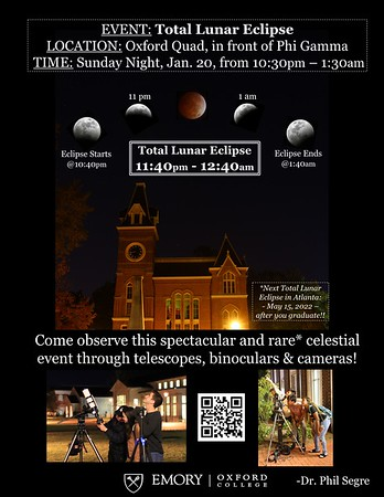 The Total Lunar Eclipse event flyer.