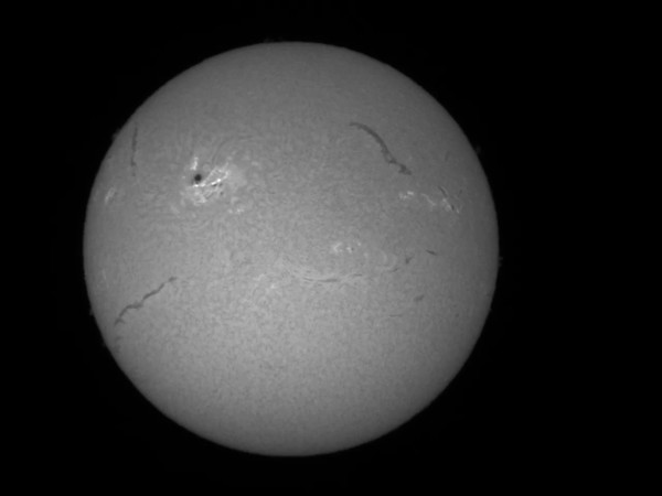 Raw Video of the Sun through Coronado Telescope (10-21-14)