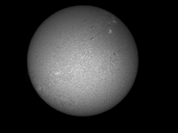 Raw video of the Sun through the Coronado telescope.