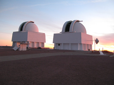 1.5m and 1m telescopes at sunset
