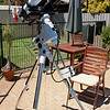 "Solar imaging configuration - 21/01/2012<br /> <br /> Telescope - Apogee OrthoStar LOMO 80/480 with Teleview 2"" 2X Powermate, Hommade solarfilm Solar filter (Stephen Boyd's spares), Canon 400D DSLR, Ambient 35C. Mount - Skywatcher NEQ6 Pro. Orion ShortTube 80 - Not guideing."