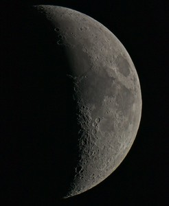 A six day old Moon - July 3rd, 2014