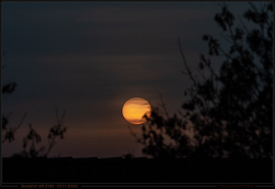 Sunspots at Sunset
