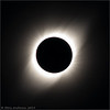 Totality. Wisps noted in corona.