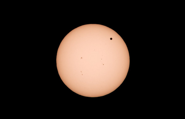 Venus transit across the Sun.