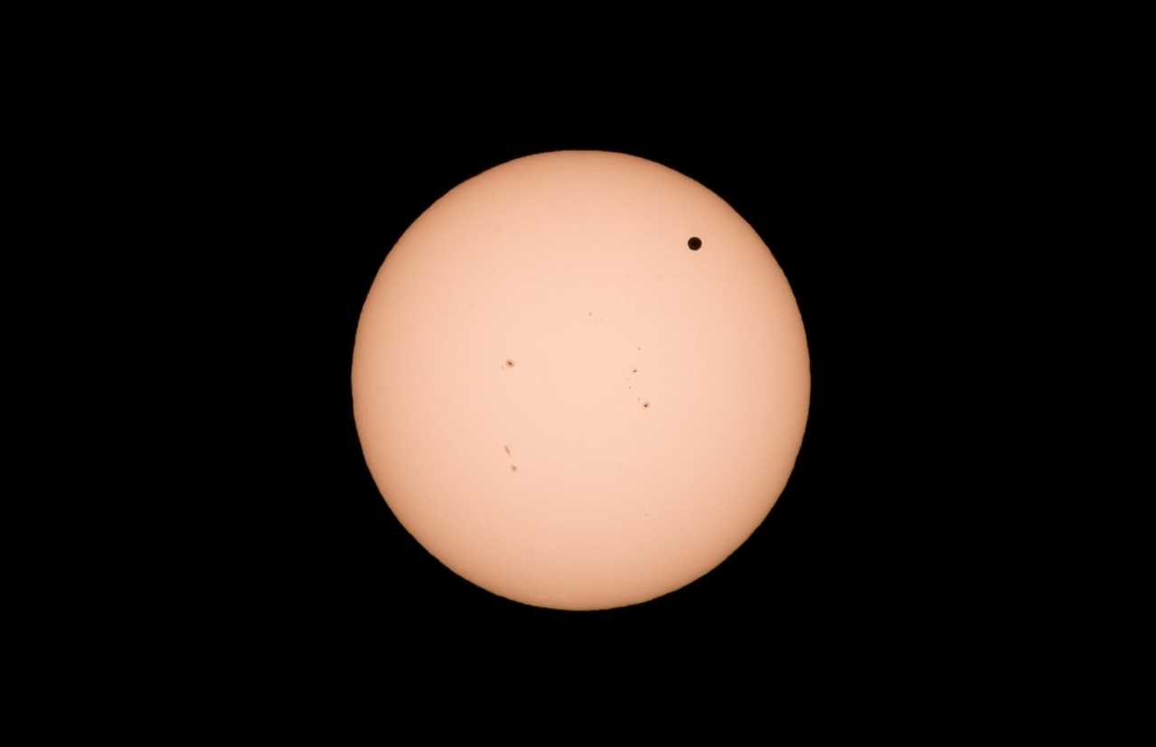 Venus transit across the Sun.