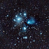 The Pleiades (Seven Sisters) or M45.