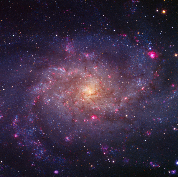 M33 by Ken Crawford with Ha and OIII